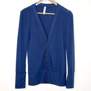 Blue Lightweight & Comfy Knit Cardigan, Size L